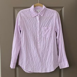 J.Crew Lilac and White Striped Button Down Shirt